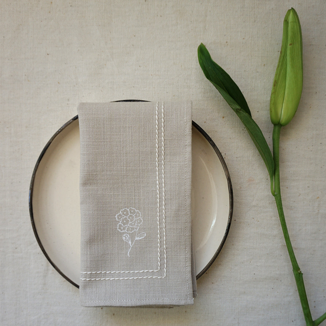 White Tagar Dining Napkins ( Set of 2 )