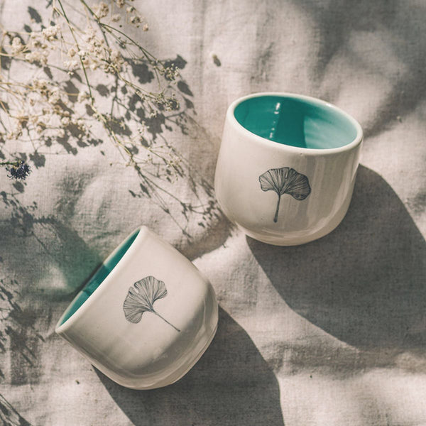 Mint Ginkgo Herbal Tea cups