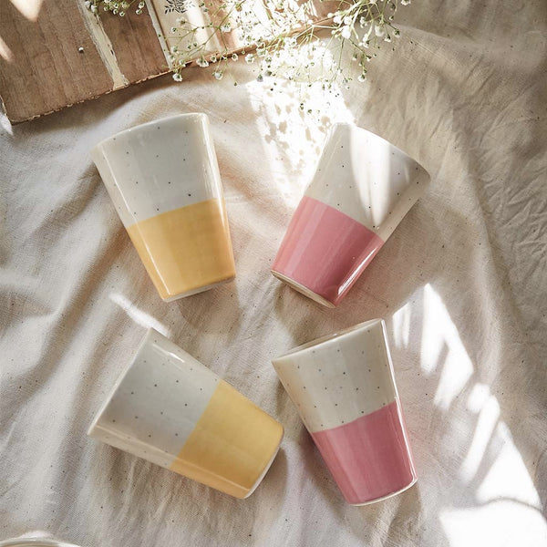 Shorshe Tumblers Mustard and Pink (Set of 4)