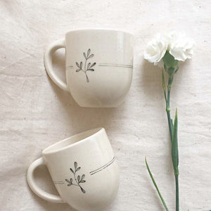 Lily Coffee Mugs ( Set of 2 )