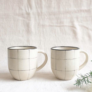 Check Coffee Mugs ( SET OF 2 )
