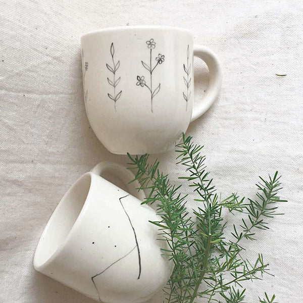 Hills & Wildflower Coffee Mugs ( Set of 2)