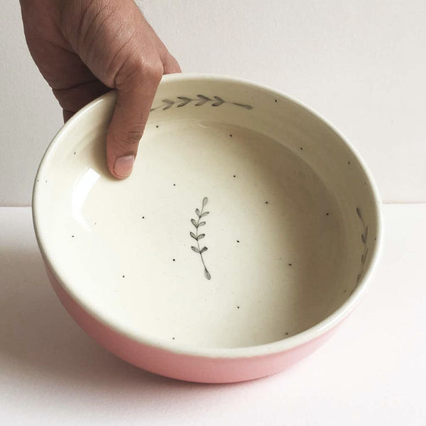 Durba Pasta Bowl, Pink(Sold Individually)