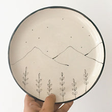 Load image into Gallery viewer, Hills and Wildflower Plates (Set of 2 )