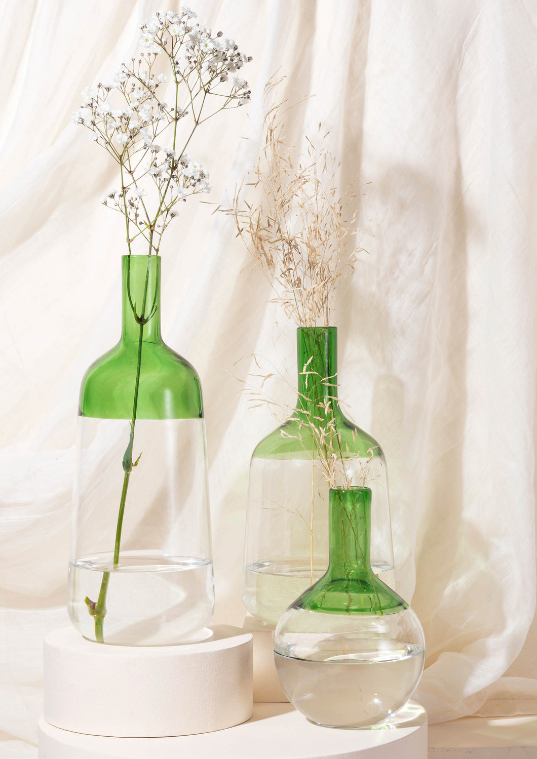 Iris vase - Green - Small | Medium | Big