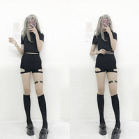 Gothic Plaid A-Line Mini Skirt / shorts