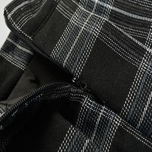 'Spellbound' Grey Check Skirt