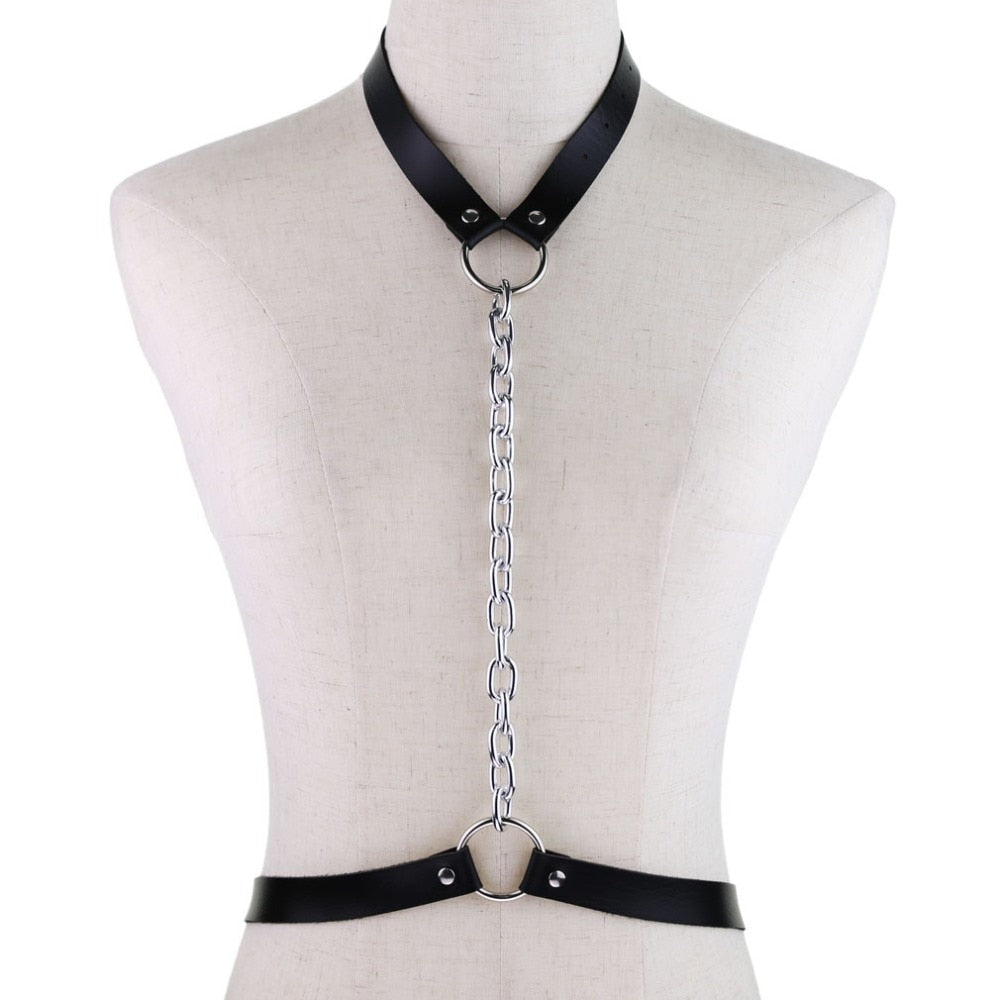 'Back for more' PU Body Harness