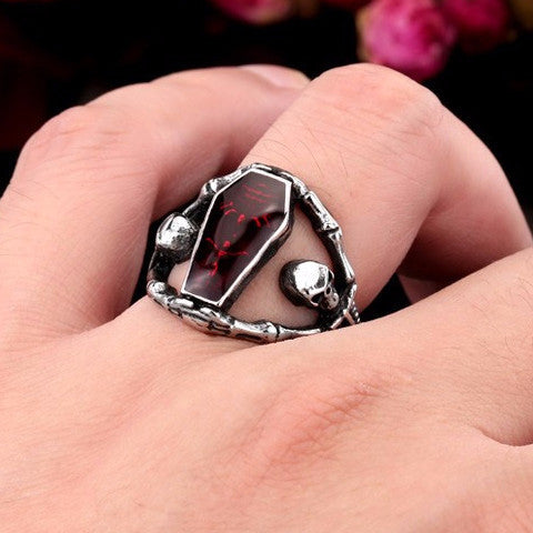 Undertaker Red Skull Ring