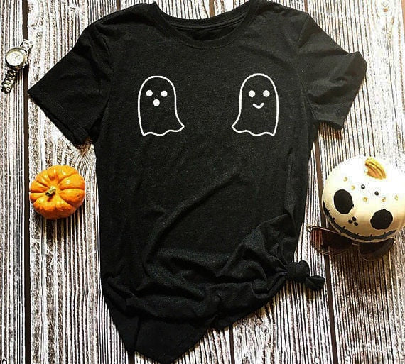'Boo' Ghost Themed T-Shirt
