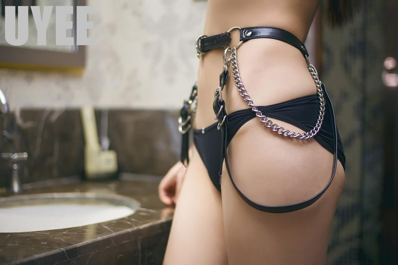 'Erotica' PU Leather Belt Chain Harnes
