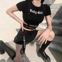 'Baby Girl' cut out t shirt