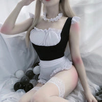 3Pcs/Set Lingerie Maid Cosplay