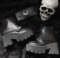 'All Hallows Eve' Buckle Platform Boots