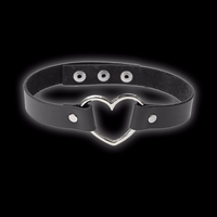 Faux Leather Heart Breaker Choker