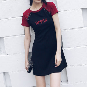 'Bloodlust' Casual Embroidery A-Line Dress