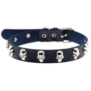 'Built for this' Pu Leather Skull Choker
