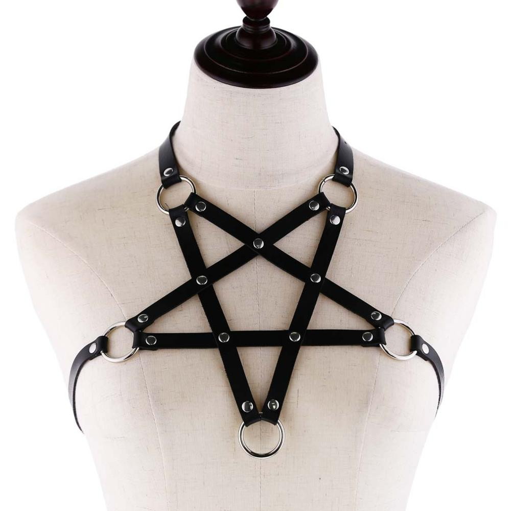 'Hellraiser' PU Leather Harness