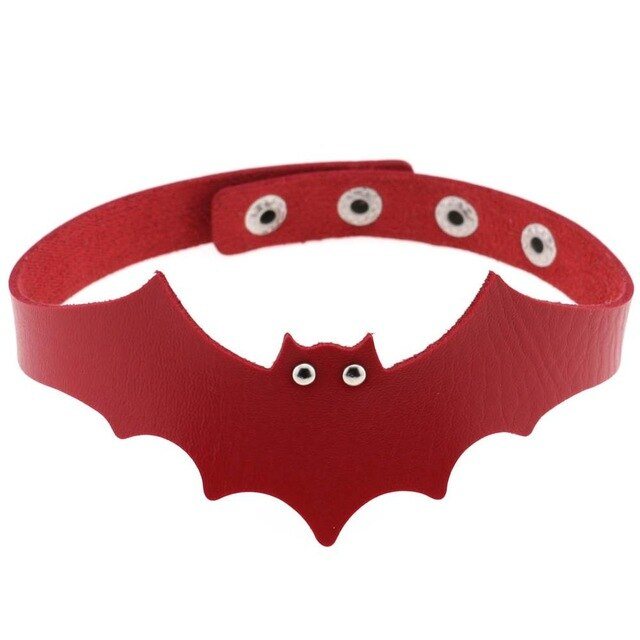 'Out of Hell'  faux leather bat choker (4 Colours)