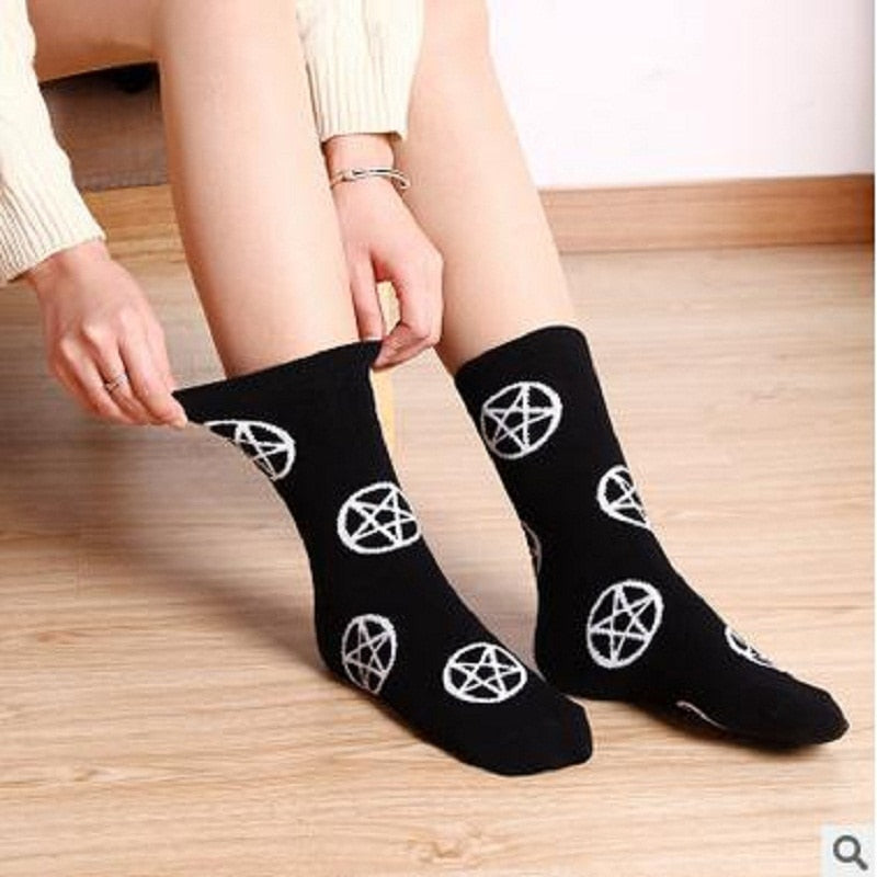 Pentagram ankle socks