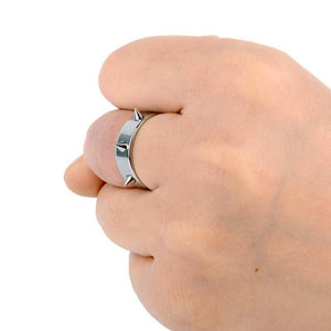 Stainless steel spike ring