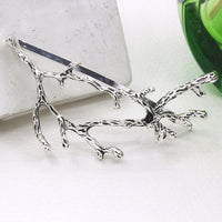 2pcs Silver gothic witchy tree branch hair clip
