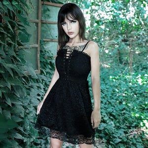 'Redemption' Black lace dress
