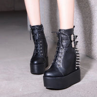 'Black Betty' Studded Ankle Boots