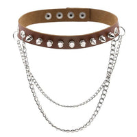 'Breathless' Stud chain choker