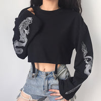 'Dragons Lair' Black dragon sweatshirt