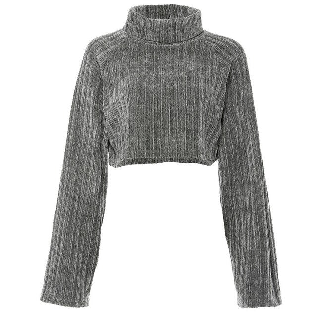 Grey/Black Turtleneck Sweater