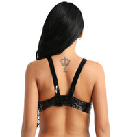 'Hot Stuff' PU Leather Bra Top