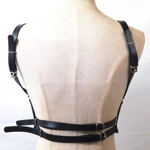 'Submissive' PU Leather Harness Set