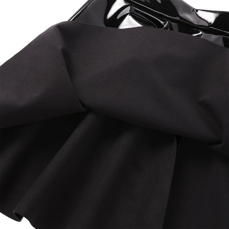 'Hex' Black PU mini skirt