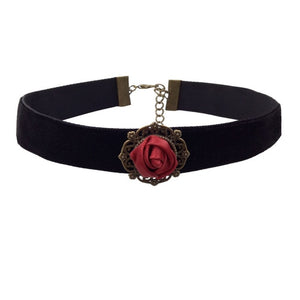 Rose/Cross Choker