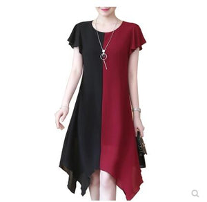 'Black Cherry' Black and red dress (plus size)