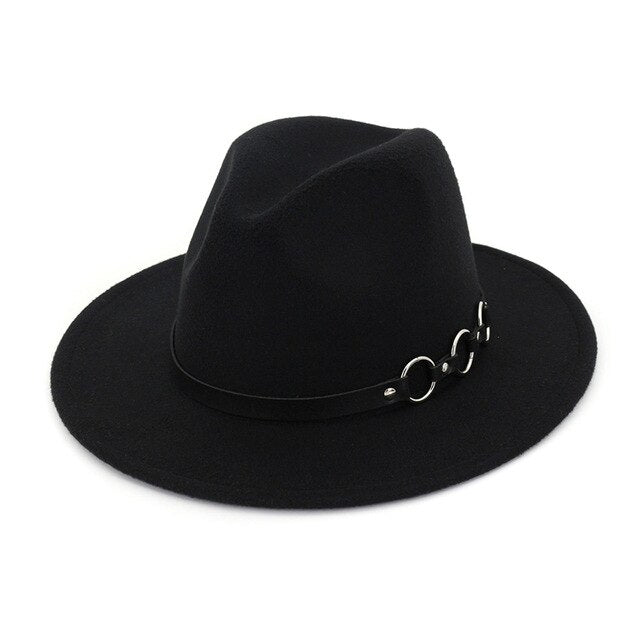 Tripe O ring fedora hat