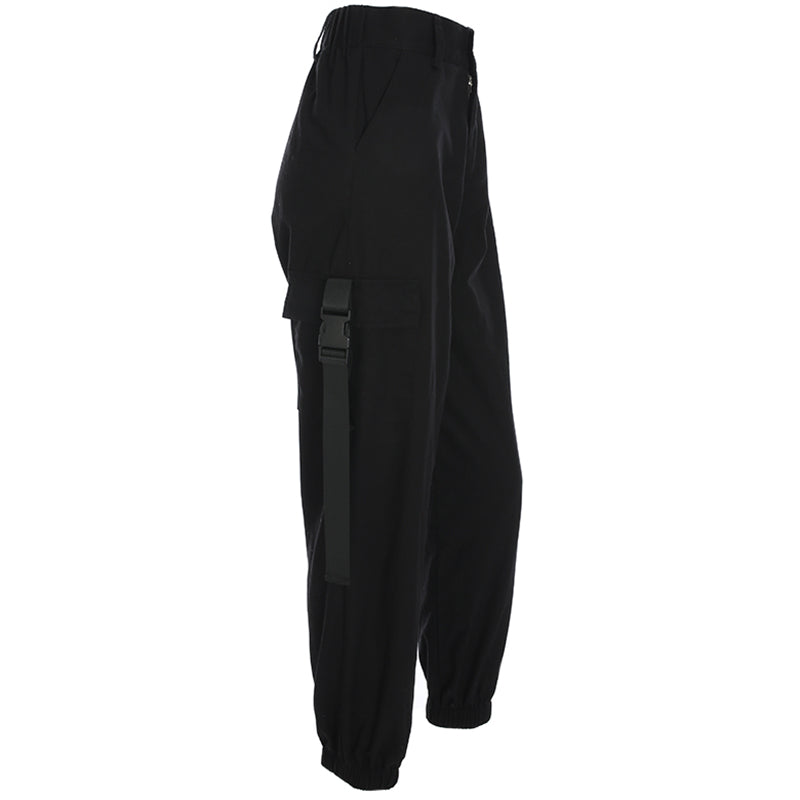 'Vision in Black' Casual cargo pants