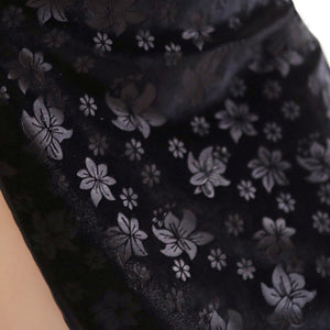 'Serpent' Black cheongsam dress