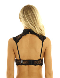 'To the top' Lace PU Leather Bra Top