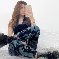 Dragon High Waist Baggy Pants