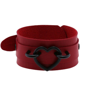 Red and Black Heart Wristband