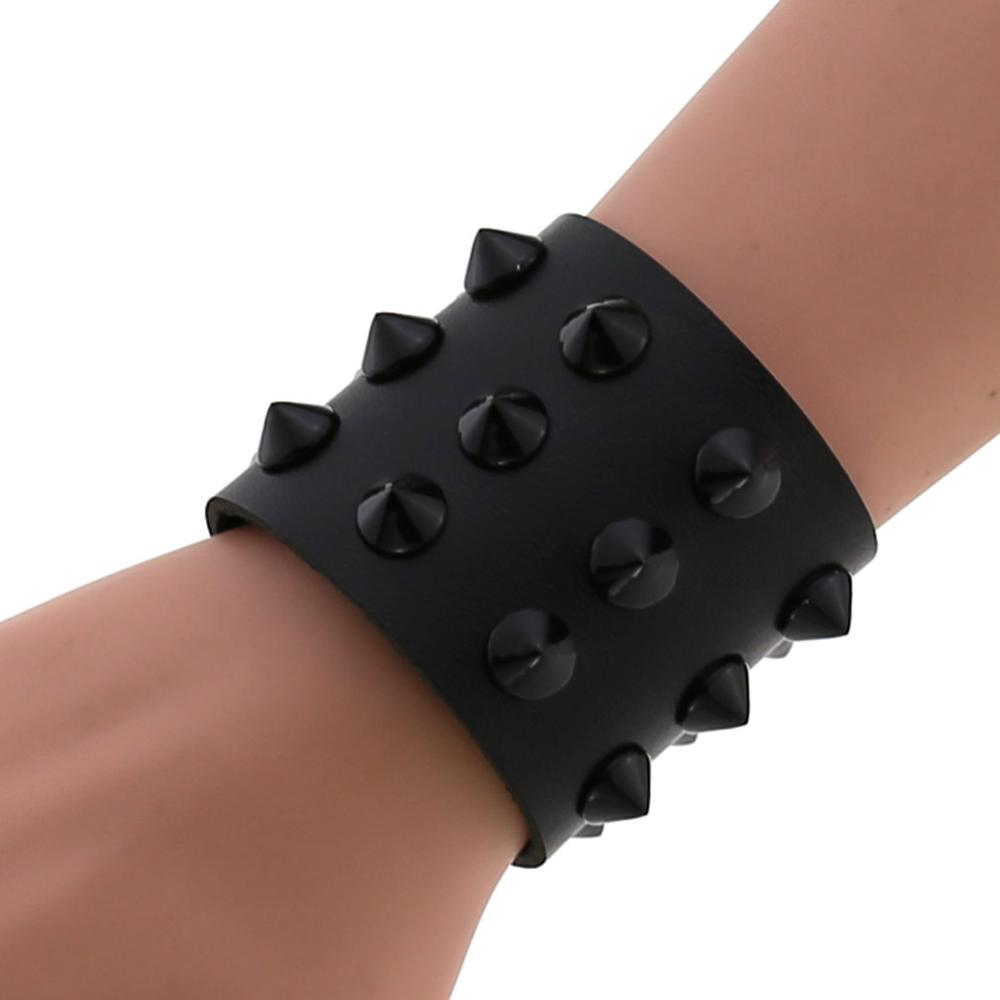 Multi Color Spike PU Leather Wristband