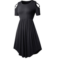 'Wolfthorn' Black cold shoulder dress