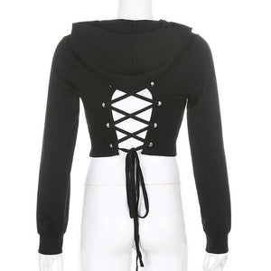 'Wild one' Lace Up Hoodie