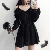'Deadbeat' Black Dress