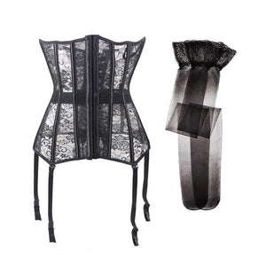 'Demolition' Black Corset Available up to 6XL