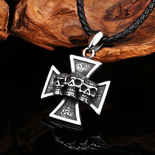 'Death Road' Stainless Steel Pendant (Sold Separately)