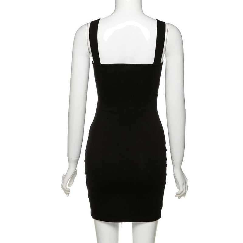 'Stars are Forever' Black cut out bodycon dress