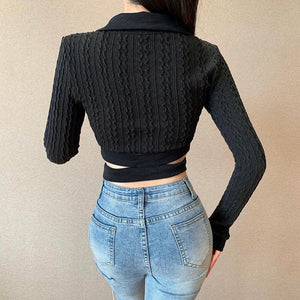 'Superstition' Slim Knitted Crop Top